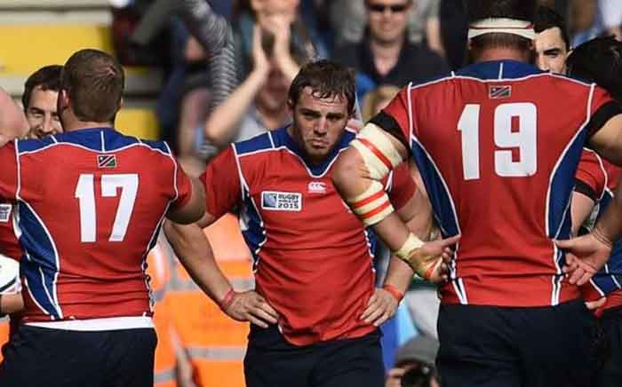 FILE: The Namibian national team will go up against the Springboks on 28 September 2019. Picture: rugbyworldcup.com