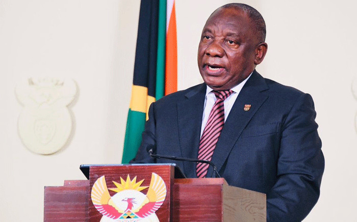 President Cyril Ramaphosa addressing the nation on 9 April 2020. Picture: GCIS.
