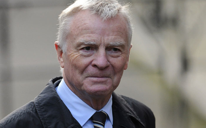 FILE: Max Mosley, former F1 chief, arrives at the Leveson Inquiry in central London, on 24 November 2011. Picture: Carl Court/AFP