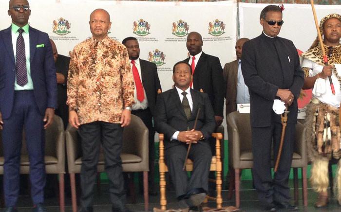 King Goodwill Zwelithini at the xenophobia imbizo at Moses Mabhida Stadium on 20 April 2015. Picture: EWN.