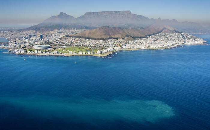 A plume in Table Bay which marine conservation photographer Jean Tresfon claims eminates from the local sewage outfall pipe. Picture: Jean Tresfon