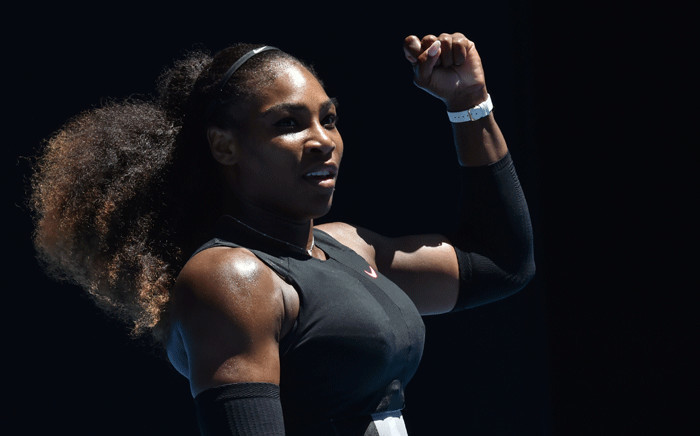 This file photo taken on 25 January 2017 shows Serena Williams. Picture: AFP