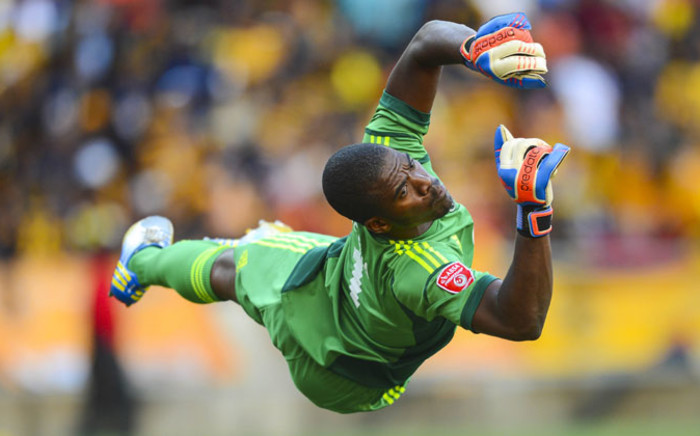 FILE: South African soccer team captain Senzo Meyiwa during a club soccer match in Johannesburg in 2013. Picture: EPA.