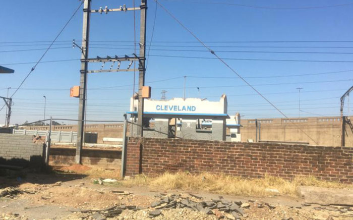 The Cleveland train station in Johannesburg has been vandalised and stripped of its infrastructure during lockdown. Picture: Edwin Ntshidi/EWN