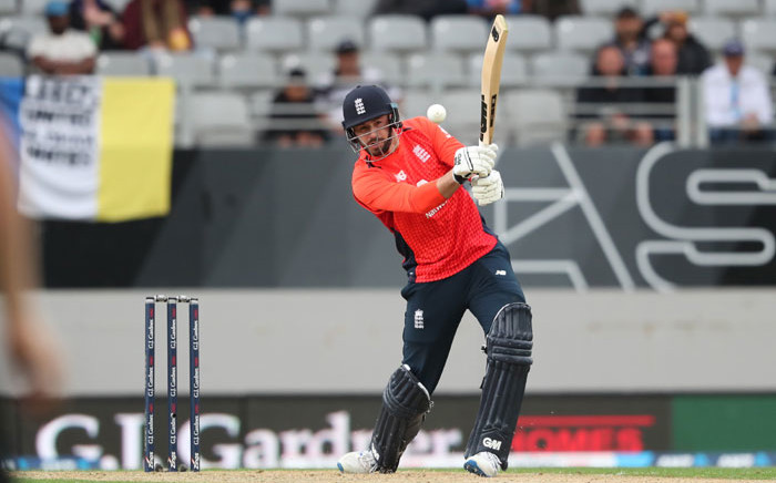England's James Vince bats during the 5th Twenty20 cricket match between New Zealand and England at Eden Park in Auckland on 10 November 2019. Picture: AFP
