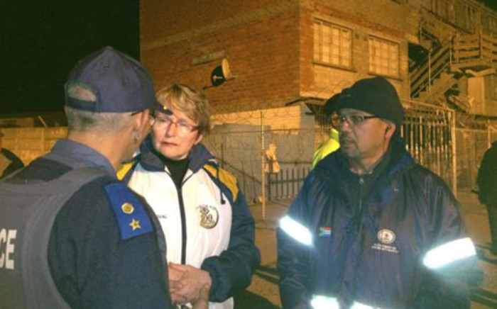 Helen Zille on neighbourhood watch patrol doing her 67 minutes for Mandela Day. Picture: Twitter via@njclelland
