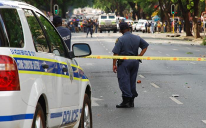 Police at work. Picture: Taurai Maduna/EWN