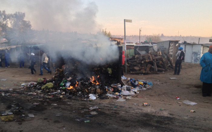 The situation in Diepsloot remains tense after two Zimbabweans were shot dead by a Somalian shopkeeper. Picture: Govan Whittles/EWN