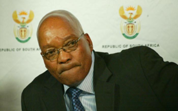 President Jacob Zuma announcing his cabinet at Union Buildings in Pretoria. Picture: EWN