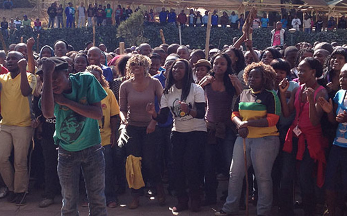 Tshwane University of Technology students took part in a protest calling for better education on 16 August 2012. Picture: Christa Van der Walt/EWN.