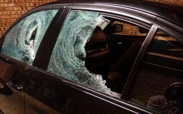 A magistrate's car was attacked north of Pretoria and he was called the K-word. Picture: Social media.