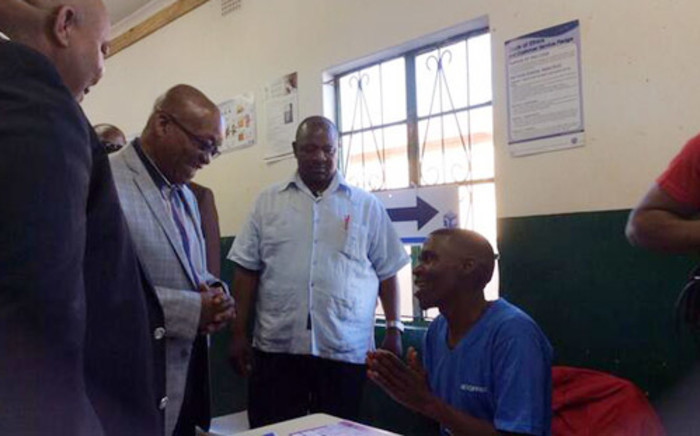 President Jacob Zuma about to cast his vote in Nkandla. Picture: @myANC_