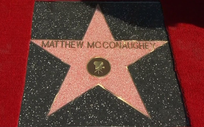 Matthew McConaughey gets a star on the Hollywood walk of fame.  Picture: CNN