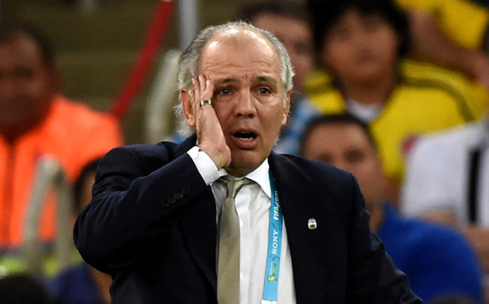 Argentina's coach Alejandro Sabella reacts during the 2014 Fifa World Cup final football match between Germany and Argentina at the Maracana Stadium in Rio de Janeiro, Brazil, on 13 July, 2014. Picture: AFP.