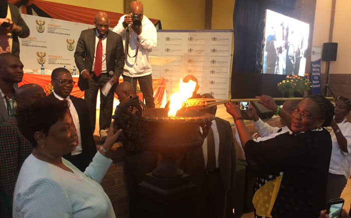 Ministers Dipuo Peters & Angie Motshekga lit the torch to mark the beginning of 'safety in schools' campaign in Soshanguve. Picture: Pelane Phakgadi/EWN