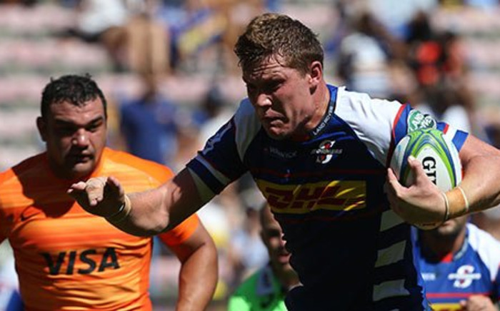 Stormers flank Cobus Wiese in action against the Jaguares during their Super Rugby match. Picture: Twitter/@THESTORMERS