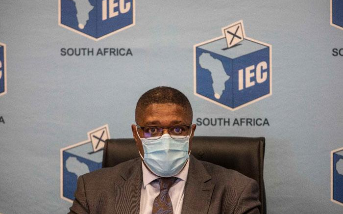 FILE: IEC chairperson Glen Mashinini at a press briefing in Centurion, Johannesburg on 20 May 2021 on the upcoming local government elections. Picture: Abigail Javier/Eyewitness News