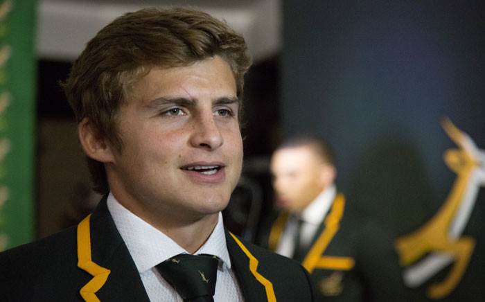 Springbok flyhalf Patrick Lambie at the Springbok World Cup team announcement. Picture:Anthony Molyneaux/EWN
