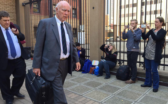Former tennis champion Bob Hewitt outside court after being sentenced to an effective six years in jail for rape and indecent assault. Picture: Gia Nicolaides/EWN.