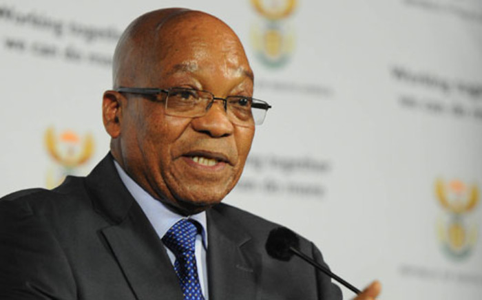 President Jacob Zuma addresses a special media briefing on the economy, especially on developments in the mining sector at the Union Buildings in Pretoria. Picture: GCIS.