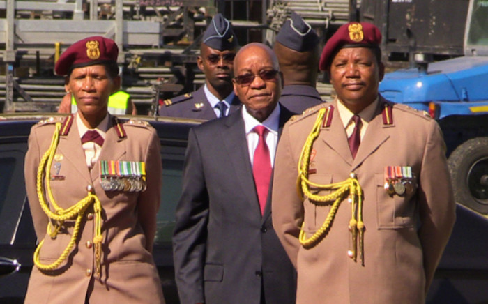 President Jacob Zuma arrives at the Freedom Day celebrations at the Union Buildings in Pretoria on 27 April 2014. Picture: Christa Eybers/EWN