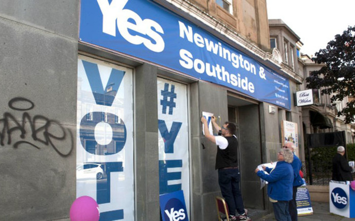 The pro-independence campaign has argued the only guarantee of more powers is to vote for them.  Picture: AFP.
