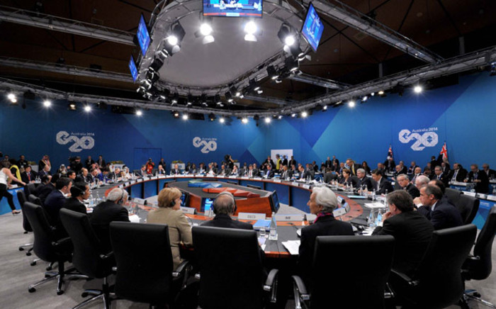 FILE: G20 leaders sitting around the table during one of the deliberations at the G20 meeting. Picture: GCIS.