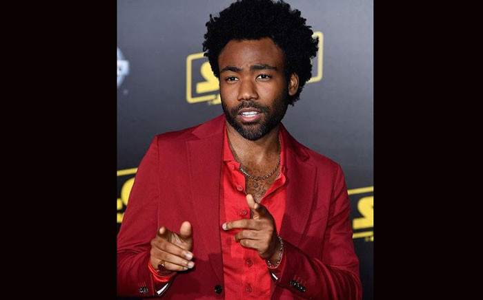 Donald Glover at the #SoloAStarWarsStory premiere. Picture: Donald Glover Fan Page/Instagram