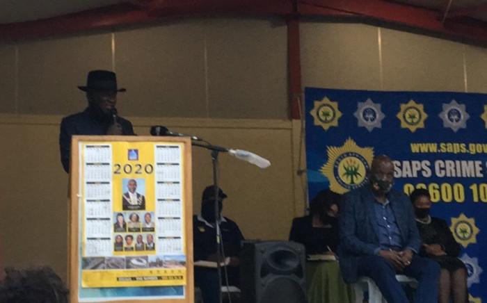 Police Minister Bheki Cele visited KwaNdengezi township in KwaZulu-Natal on 28 September 2020 where nine people were killed in two separate shootings over the weekend. Picture: Nkosikhona Duma/EWN