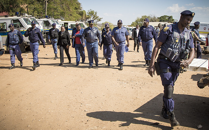 Acting National Police Commissioner Kgomotso Pahlane arrived in Vuwani this week. Picture: Thomas Holder/EWN.