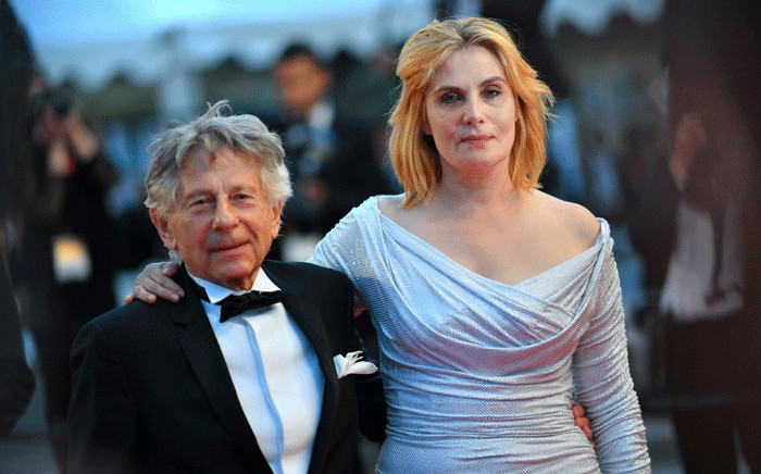 FILE: French-Polish director Roman Polanski (L) and French actress Emmanuelle Seigner leave the Festival Palace following the screening of the film 'Based on a True Story'. Picture: AFP