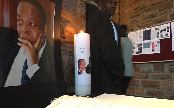 Veteran spokesperson Ronnie Mamoepa's funeral proceeding held at the St Albans Cathedral in Pretoria.  Picture: Hitekani Magwedze/EWN.