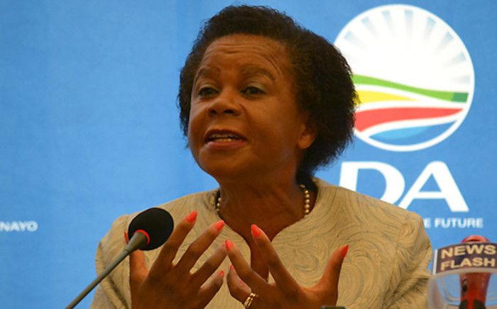 Mamphela Ramphele addresses the media during the press announcement that she will be the DA's presidential candidate in the 2014 elections on 28 January 2014. Picture: Aletta Gardner/EWN
