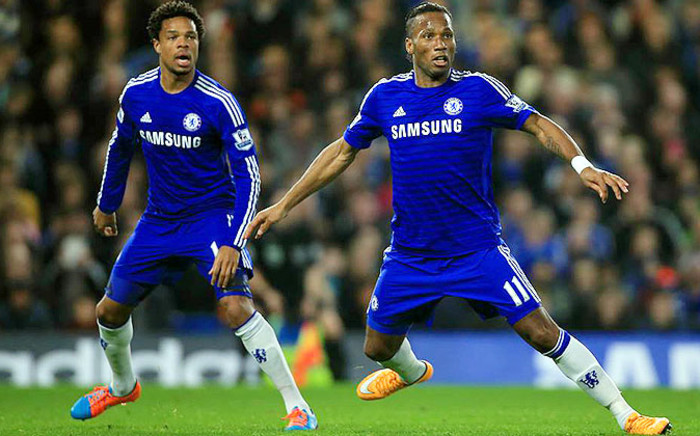 Chelsea's Didier Drogba (R) and Loic Remy react during and EPL match in November 2014. Picture: Chelsea Facebook.
