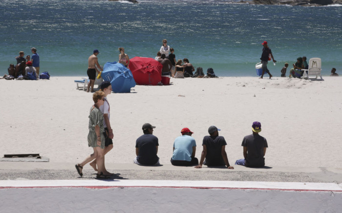 Beachgoers pictured at Camps Bay beach. Picture: Cindy Archillies/EWN