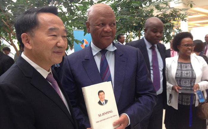 Minister Jeff Radebe & China's Minister of State Information, Jiang Jiangou, at China-Africa media summit. Picture: Gaye Davis/EWN.