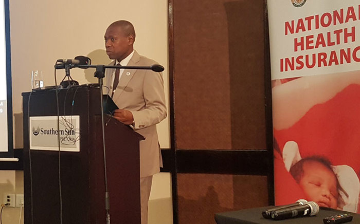 Health Minister Zweli Mkhize released the National Health Insurance Bill in Pretoria on 8 August 2019. Picture: Thando Kubheka/EWN