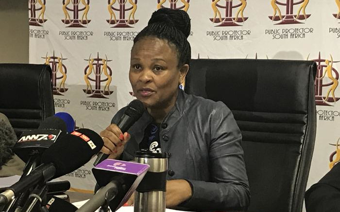 FILE; Public Protector Busisiwe Mkhwebane during a press briefing. Picture: EWN.