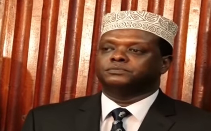 A video screengrab showing former Kenyan sports minister Hassan Wario. Picture: YouTube.