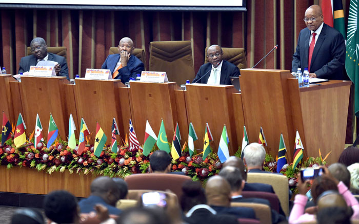 President Jacob Zuma officially opening the 2017 Governors' Symposium of the Association of African Central Banks at the SA Reserve Bank in Pretoria. Picture: GCIS.