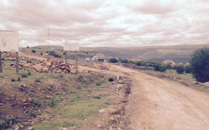 Reporters are not allowed on site where construction of the Nelson Mandela Museum in Mvezo continues. Picture: Siyabonga Sesant/EWN.