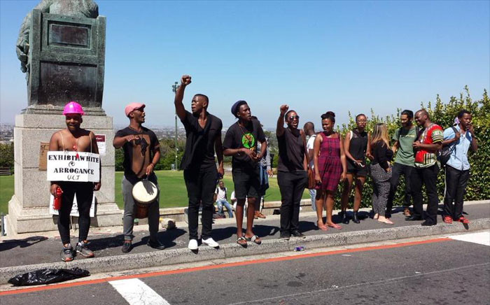 FILE: Students occupied the University of Cape Town's administration buildings, protesting against institutional racism. Picture: Thomas Holder/EWN