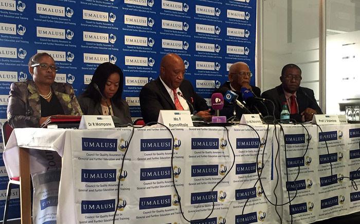 FILE: Umalusi representatives brief the media over the 2016 matric results in Pretoria. Picture: Pelane Phakgadi/EWN.