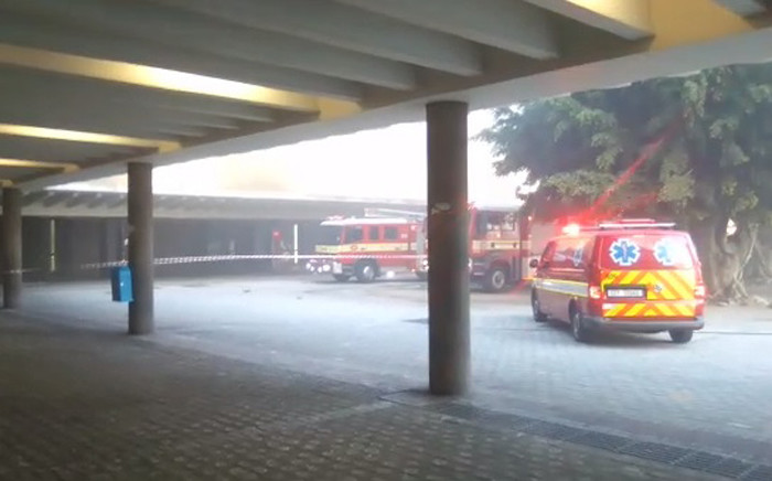 City of Cape Town's Fire and Rescue Service personnel respond to a fire at the Cape Town station on 21 April 2019. Picture: Ayanda Felem/EWN