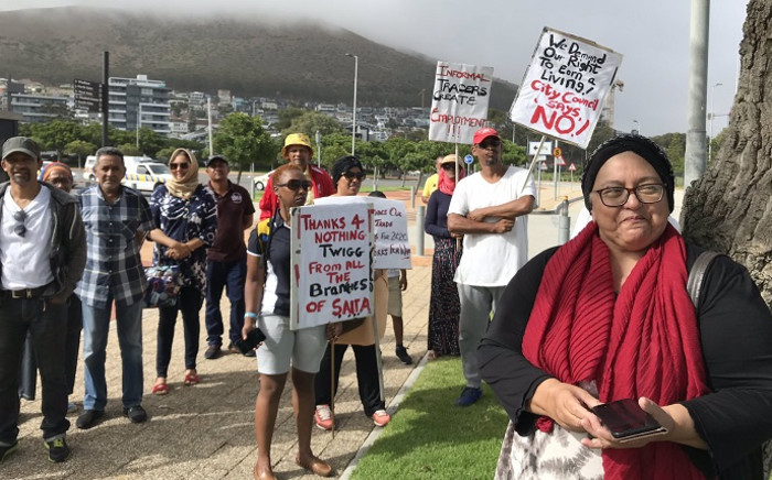 Vendors said they were notified on New Years' Day that they won't be able to conduct business in the parking at the venue today due to a soccer game scheduled for this afternoon. Picture: Kevin Brandt/EWN.