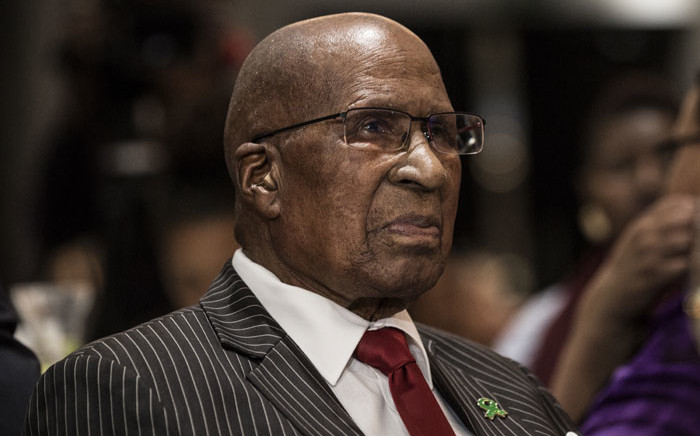 FILE: Anti-apartheid struggle stalwart Andrew Mlangeni looks on at the inaugural George Bizos Human Rights Award in Johannesburg on 14 March 2018. Picture: AFP