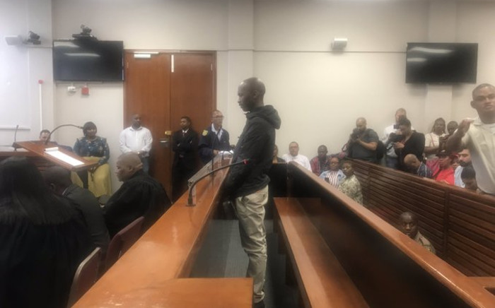 The man accused of Uyinene Mrwetyana's murder, Luyanda Botha, appears in the Wynberg Magistrates Court. Picture: EWN
