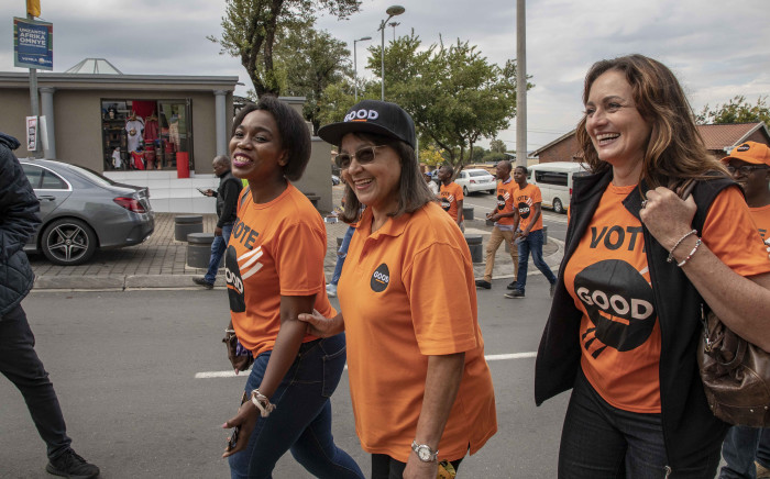 GOOD party leader Patricia de Lille campaigned in Soweto on Vilakazi Street months after the launch of her new party. Picture: Thomas Holder/EWN