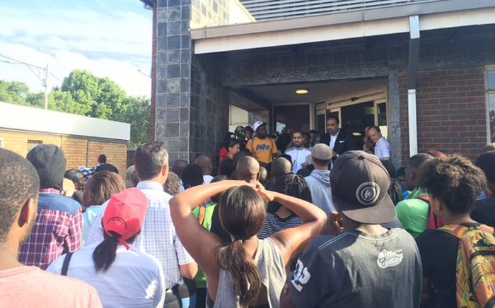 Lawyers say it could take several hours before protesters are released from Brixton police station. Picture: Gia Nicolaides/EWN