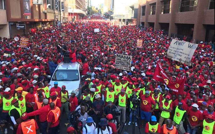 FILE: Saftu workers protest in the Johannesburg CBD on Wednesday 25 April 2018. Picture: Mia Lindeque/EWN